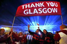 Athletes bid farewell to the Commonwealth Games at the closing ceremony at Hampden Park