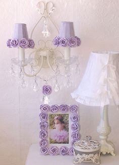 Pretty lavender details in this girl's nursery