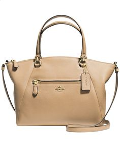 COACH PRAIRIE SATCHEL IN PEBBLE LEATHER - Handbags  Accessories - Macys