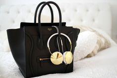 black leather #bag :: Luggage by #Celine