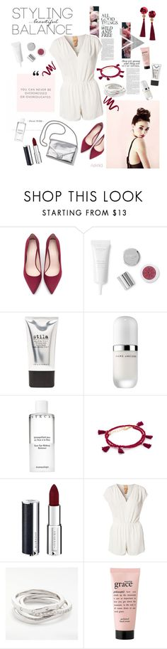 """Pink spring 🌸"" by askriiid ❤ liked on Polyvore featuring Zara, Stila, Marc Jacobs, Chantecaille, Shashi, Givenchy, Loeffler Randall, Jeane Blush, philosophy and H&M"