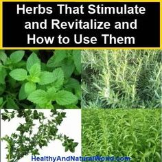 Herbs to revitalize!