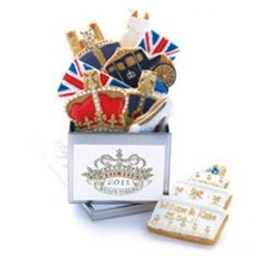 Our Royal Wedding biscuit tin is a limited-edition for the wedding of the year. It's a veritable fanfare of regal-inspired treats, get your biscuits by post! Easter Biscuits, Iced Biscuits, Cookies Et Biscuits, British Cookies, Cute Cookies, Dog Cookies, Iced Cookies, Wedding Of The Year, Incredible Edibles