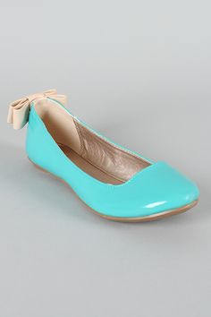 Qupid Thesis-153 Bow Round Toe Ballet Flat