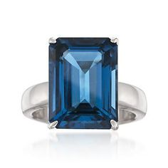 Simply stated but oh so stylish. Our statement-making gemstone ring showcases a clean and crisp emerald-cut carat London blue topaz in a brightly polished… Garnet Jewelry, Garnet Gemstone, Geode Jewelry, Jewellery, Men's Jewelry, Silver Jewelry, Jewelry Accessories, Jewelry Design, Silver Stacking Rings
