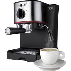 Hamilton Beach Melitta Pump Espresso Maker with Frother Silver 40791 *** You can find more details by visiting the image link. (This is an affiliate link) Cappuccino Maker, Cappuccino Machine, Espresso Maker, Espresso Cups, Coffee Type, Coffee Shop, Cheap Coffee Machines, Melitta Coffee Maker, Coffee Maker Reviews