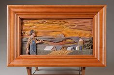Relief Wood Carving by Dylan Goodson - entered in the 2011 Competition Artistry In Wood at Dayton Carvers