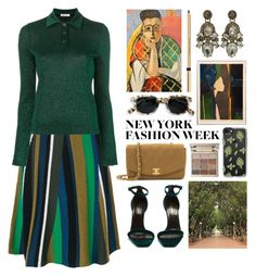 """""""art of fashion"""" by foundlostme ❤ liked on Polyvore featuring Kenzo, Dondup, Yves Saint Laurent, Chanel, Stila, Casetify, Dolce&Gabbana and NYFW"""