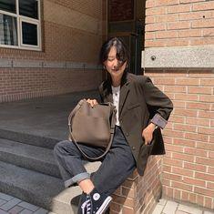 Korean Street Fashion, Asian Fashion, Girl Fashion, Fashion Outfits, Womens Fashion, Stylish Outfits, Fall Outfits, Cute Outfits, Look Oxford