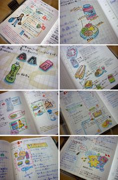 Filofax Love blog: Pages coloured with Pentel multi 8