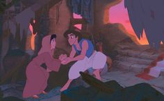 Aladdin and Jasmine as street rats