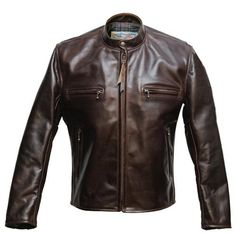 Aero Leathers Cafe Racer heavy horsehide leather jacket