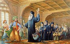 Archbishop of Cyprus Kyprianos declaring Cyprus revolution 1821 - Cyprus assists Greece in the common fight against Turkey Greek History, Modern History, Greek Independence, Cyprus Island, Mediterranean Art, World Conflicts, Greek Warrior, Greek Culture, Island Nations