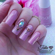 Art Nails, Toque, Beauty, Perfect Nails, Pretty Nails, Gorgeous Nails, Nail Jewels, Nail Bling, Fingernail Designs