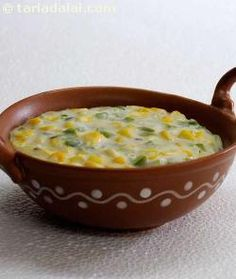 A tantalizing combo of tender corn and capsicum cooked in milk and tempered with indian spices, maka Jain Recipes, Indian Veg Recipes, Gujarati Recipes, Veggie Recipes, Capsicum Recipes, Curry Recipes, Vegetarian Cooking, Vegetarian Recipes, Cooking Recipes