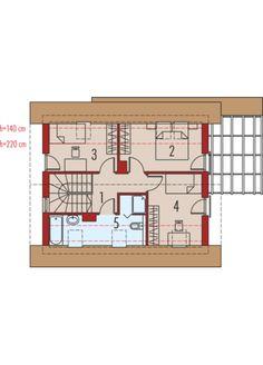 Lea (wersja A): Poddasze Planer, Floor Plans, Home Plans, Floor Plan Drawing, House Floor Plans