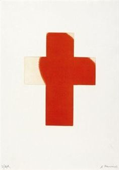 """Flame Cross"" By Arnulf Rainer Arnulf Rainer, Symbols, Abstract, Art, Crosses, Summary, Glyphs, Icons"