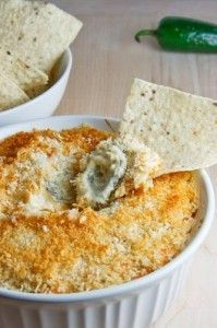 Jalapeno Popper Dip...this was delicious and addicting. Made for a party last night and ever last drop was eaten. I used 1 can jalapeños as it calls for and only 1 fresh jalapeño pepper. It was pretty hot. Depending on who's eating it, I may use less of the jalapeños in the can. I also put in a small crockpot to keep warm.