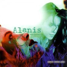 This is the cover art for the studio album Jagged Little Pill by the artist Alanis Morissette. The cover art copyright is believed to belong to the label, Maverick Records/Reprise Records, or the graphic artist(s). Cd Album, Debut Album, Alanis Morissette Songs, Jagged Little Pill, Baker And Taylor, It's Over Now, You Oughta Know, Album Covers, Frases
