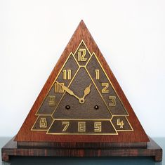 "Remarkable 1920's or 30's German ""Pyramid"" Deco Mantle Clock 