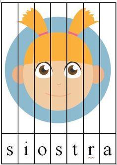 Ja i moja rodzina - gigapaka przedszkolaka to ogromna porcja materiałów dydaktycznych dotyczących rodziny i społeczeństwa. Puzzle, plakaty, zabawy i pląsy! Montessori, Pikachu, Puzzle, Activities, Education, School, Fictional Characters, Ideas, Therapy
