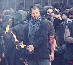 Jamie Dornan filming Robin Hood