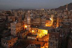 Sanaa at night (Yemen)