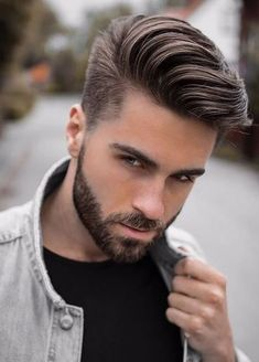 40 Viral Undercut Hairstyles with Beard - Machovibes beard and hair style images - Hair Style Image Trendy Mens Haircuts, Cool Hairstyles For Men, Trending Haircuts, Hairstyle Ideas, Men's Hairstyle, School Hairstyles, Stylish Hairstyles, Boy Haircuts, Popular Haircuts