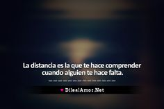 La distancia en el amor