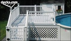 I Like this for my pool good size. Above Ground Pool Decks, In Ground Pools, Cabana, Decks Around Pools, Pool Deck Plans, Stock Tank Pool, Pool Cleaning, Back Patio, Cool Pools