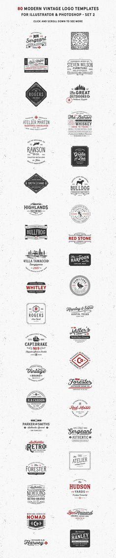 80 Modern Vintage Logos by DISTRICT 62 studio on @creativemarket
