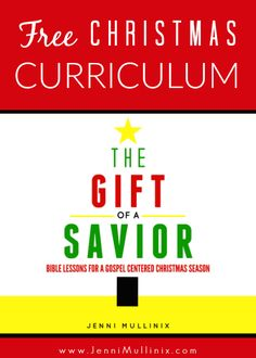 A free gospel centered Christmas curriculum for Sunday school or family devotions to teach children about the true meaning of the season.