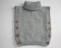 Hand-knitted vest for children