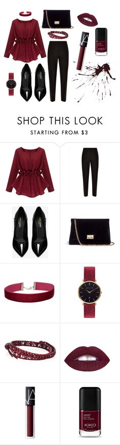 """""""Classy"""" by die-ammy ❤ liked on Polyvore featuring Jaeger, Yves Saint Laurent, Rodo, Miss Selfridge, Abbott Lyon, Chan Luu, NARS Cosmetics, wear and Dinner"""