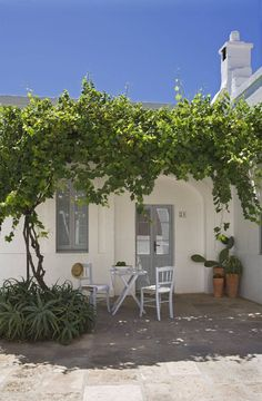White washed cutie in Puglia, down time flavoured by unwaxed lemons olive trees… Porches, Outside Living, Outdoor Living, Ideas Terraza, Beautiful Homes, Beautiful Places, Gazebos, Greek House, Outdoor Spaces