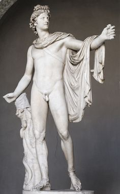 Belvedere Apollo, Museo Pio Clementino, The Vatican Museums, Rome. Roman copy of the Imperial period after after a Greek bronze original of the Hellenistic era.
