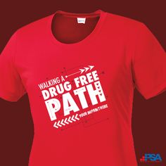 Be Drug Free - Women's performance tee to raise awareness Red Ribbon Week, Drug Free, Boys Shirts, Mens Tops, Fashion, Moda, La Mode, Fasion, Fashion Models