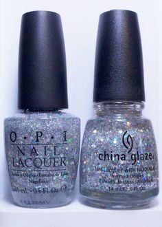 polish insomniac: ChG Nova vs OPI Servin' Up Sparkle
