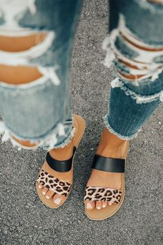 fcd09ddb4e0ba4 16 Best Leopard sandals images in 2019