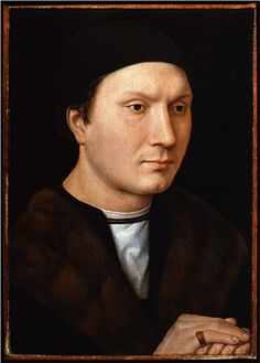 Portrait of a Man - Hans Memling. c.1490. Oil on panel. 35 x 25 cm. Galleria degli Uffizi, Florence, Italy.