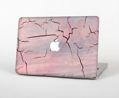 """The Pink Cracked Surface Texture Skin Set for the Apple MacBook Pro 15"""" with Retina Display from Design Skinz"""