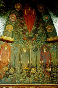 G F Watts Memorial Chapel, Compton, Surrey Road Trip Uk, English Cottage Interiors, Art Nouveau, Art Deco, Painting People, Pre Raphaelite, Celtic Art, Victorian Art, Arts And Crafts Movement
