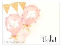 Welcome Home Baby Party- Sweet DIY for Tulle Pom Balloons!