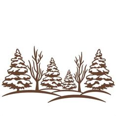 Winter Scene: Miss Kate Cuttables-- SVG scrapbook cut file cute clipart files for silhouette cricut pazzles free svgs free svg cuts cute cut files Paper Cutting, Winter Szenen, Winter Trees, Winter Colors, Svg Files For Scan And Cut, Illustration Noel, Rena, Tree Svg, Wood Burning Patterns