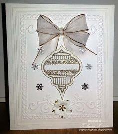 White Embossed Christmas