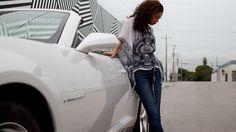 2013 Chevy Camaro 2LT Convertible sports car in Summit White.