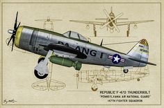 Republic F-47n Thunderbolt Digital Art - Steel Over Pittsburg - Oil by Tommy Anderson
