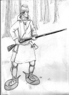 Canadian Marine in winter kit Seven Years War
