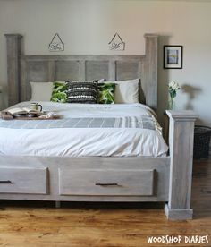 Farmhouse Storage Bed - buildsomething.com