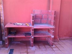 Hacer Barbacoa de obra | Bricolaje Outdoor Bbq Kitchen, Outdoor Oven, Ideas De Barbacoa, Brick Bbq, Garden Doors, Barbecue Grill, Backyard Patio, Design, Home Decor